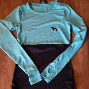 V.s Pink long sleeved workout style top